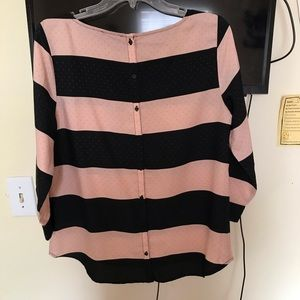 The Limited Tops - PINK & NAVY BLOUSE